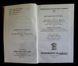 Kramadipika - with the Sanskrit Commentary Vivarana: Bhatta, Kasmirika Keshava: