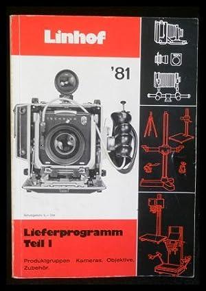Linhof Lieferprogramm Teil I, Produktgruppen Kameras, Objektive,