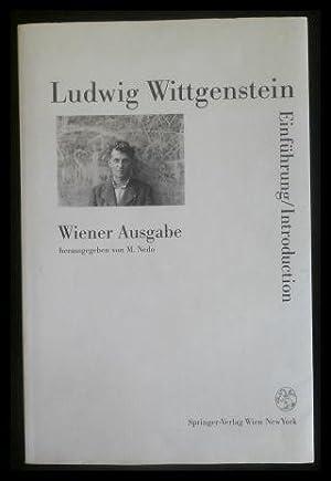 Ludwig Wittgenstein: Wiener Ausgabe Einführung/ Introduction.: Nedo, Michael