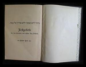 Festgebete der Israeliten - Achter Teil; Festgebete: Sachs, Michael (Hrsg.):