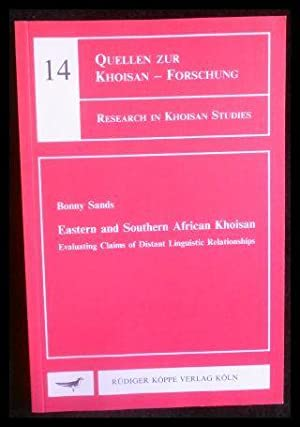 Eastern and Southern African Khoisan Evaluating claims: Bonny Sands