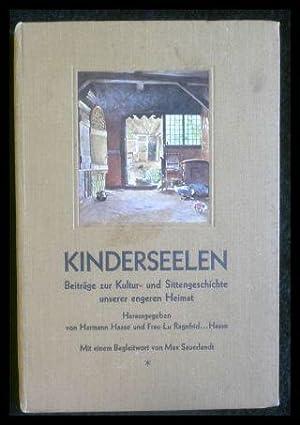 Kinderseelen - Beiträge zur Kultur- und Sittengeschichte: Haase, Hermann: