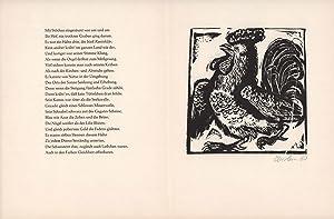Holzschnitt von Klaus Eberlein zu Chaucers Canterbury: Eberlein, Klaus