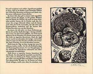 Original-Holzschnitt von Klaus Eberlein zu Herbert Plate.: Eberlein, Klaus