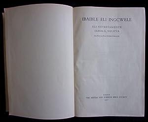 Ibaible Eli Ingcwele. Eli Netestamente Elidala, Nelitya.: British And Foreign