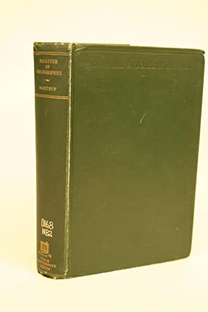 A Register of Bibliographies: Northup, Clark Sutherland