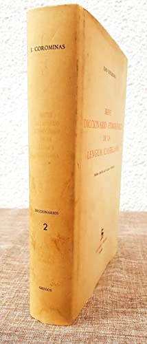 Breve Diccionario Etimologico Lengua Castellana: Joan Coromines