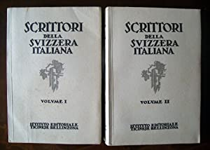 SCRITTORI DELLA SVIZZERA ITALIANA Studi critici e: AA. VV.