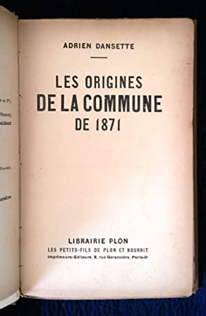 Les Origines de la Commune de 1871.
