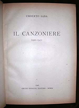 Il Canzoniere (1900 - 1945).: SABA Umberto