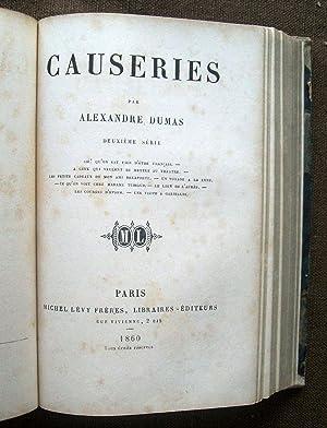 Causeries. Premiere (Deuxième) série.: DUMAS, Alexandre