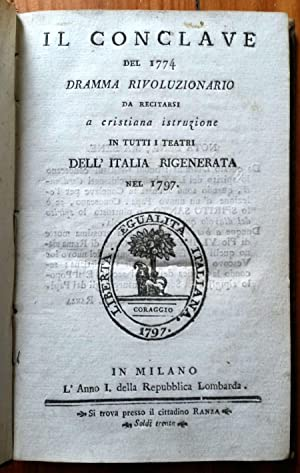 Il conclave del 1774 dramma rivoluzionario da: SERTOR Gaetano)
