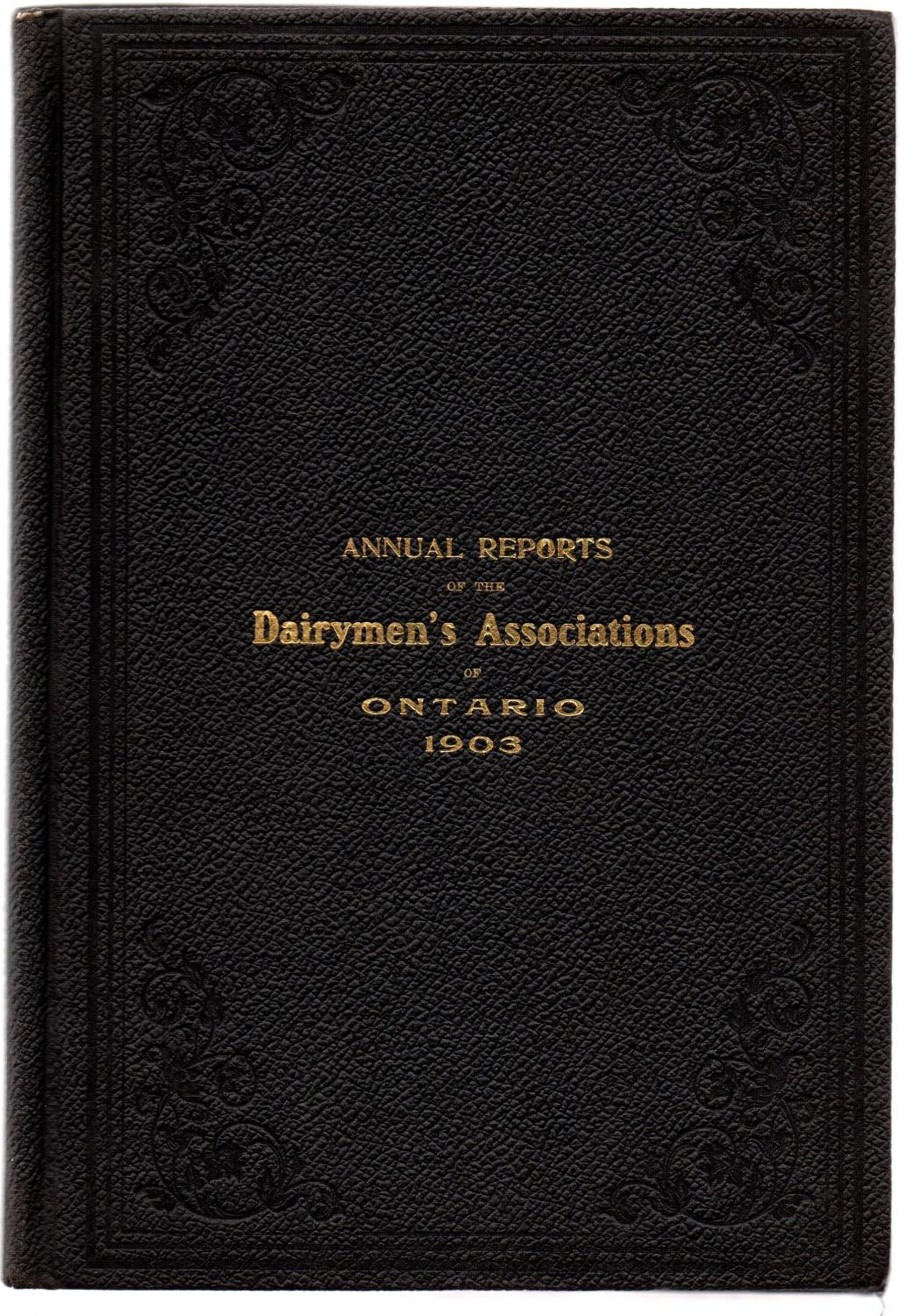 Annual Reports Of The Dairymen S Associations Of The