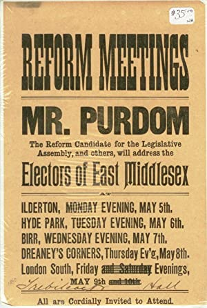 Reform meeting leaflet, Middlesex County, ca. 1890