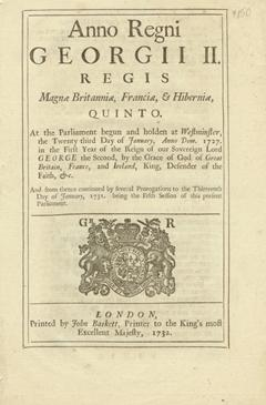 Anno quinto Georgii II. Regis. An Act to prevent the Exportation of Hats out of any of His Majest...