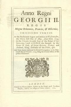 Anno tricesimo tertio Georgii II. Regis. An Act for encouraging the Exportation of Rum and Spirit...