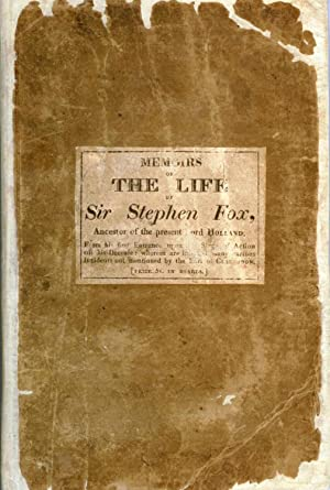 Memoirs of the Life of Sir Stephen: PITTIS, William]