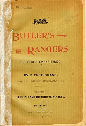 The Story of Butler's Rangers and the Settlement of Niagara