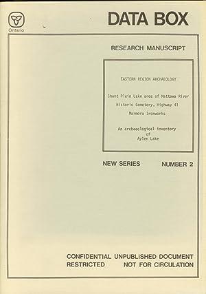 Data Box Research Manuscript New Series Number 2: WRIGHT, P. J.; ENGELBERT, P.