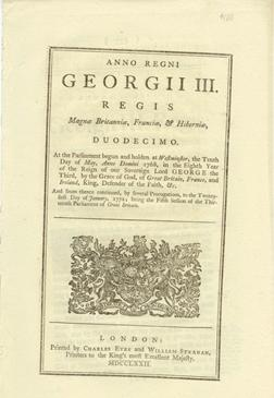ANNO DUODECIMO Georgii III. Regis. CAP. XXXIII. An Act for allowing the Importation of Wheat, Whe...