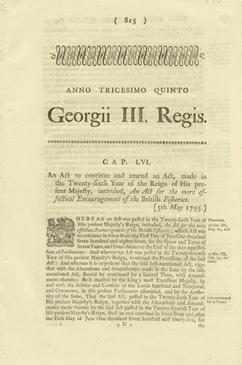 ANNO TRICESIMO QUINTO Georgii III. Regis. CAP. LVI. An Act to continue and amend an Act, made in ...