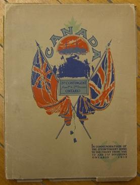 Canada: 3rd Contingent from 1st & 2nd Divisions Ontario: In Commemoration of the 3rd Contingent...