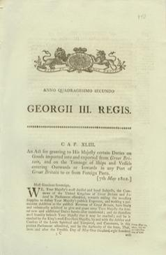 Anno Quadragesimo Secundo GEORGII III. REGIS. Cap XLII. An Act for granting to His Majesty certai...