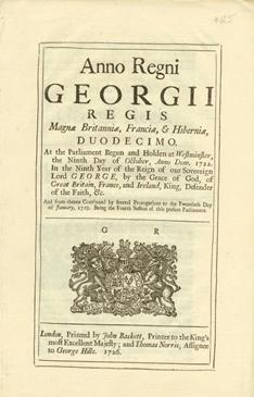 Anno Duodecimo Georgii Regis. An Act for repealing the Duty laid upon Snuff, by an Act made in th...