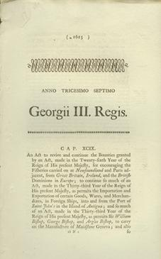 An Act to revive and continue the Bounties granted by an Act, made in the Twenty-fifth Year of the ...