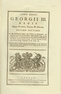ANNO DECIMO SEPTIMO Georgii III. Regis. CAP. XXXI. An Act to enable the Commissioners for executi...