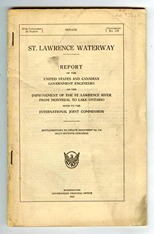 Report of the United States and Canadian Government Engineers on the Improvement of the St. Lawre...