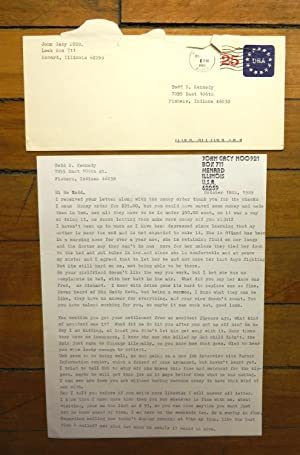 John Wayne Gacy letter to Todd N. Kennedy. October 18, 1989