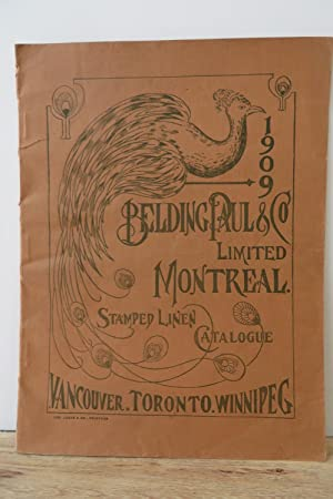 1909 Belding, Paul & Co. Limited Montreal Stamped Linen Catalogue: Belding, Paul & Co. Limited