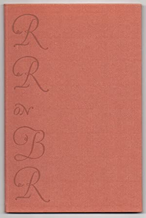 On the Aesthetic Values that are to be Found in the Printed Work of Bruce Rogers: Ruzicka, Rudolph