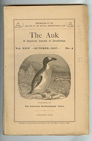 The Auk: A Quarterly Journal of Ornithology: ALLEN, Dr. J.