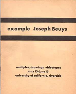Example Joseph Beuys: Multiples, Drawings, Videotapes: Beuys, Joseph; von