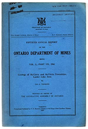 Fiftieth Annual Report of the Ontario Department of Mines: Geology of McGarry and McVittie Townsh...