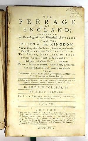 The Peerage of England Vol. VIII: COLLINS, Arthur