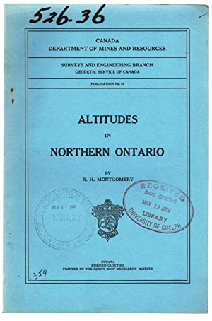 Altitudes in Northern Ontario