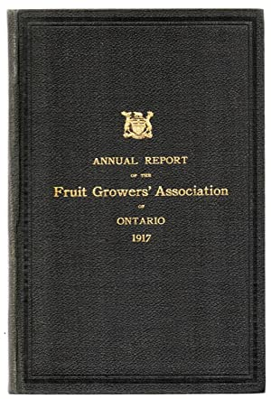 Forty-ninth Annual Report of the Fruit Growers' Association of Ontario, 1917: Ontario ...