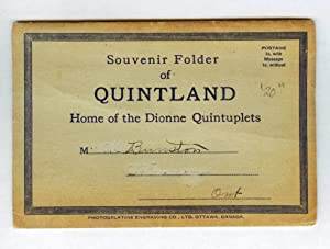 Souvenir Folder of Quintland, Home of the Dionne Quintuplets