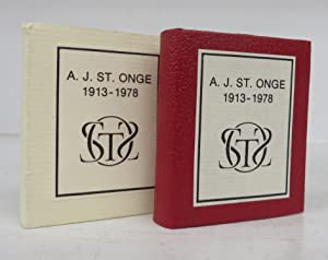 The Bibliomidgets of Achille J. Saint Onge: A Memorial and a Bibliography (miniature book)