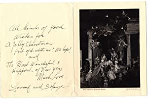 Signed Yousuf Karsh Christmas card