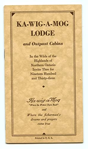 Ka-Wig-A-Mog Lodge and Outpost Cabins leaflet