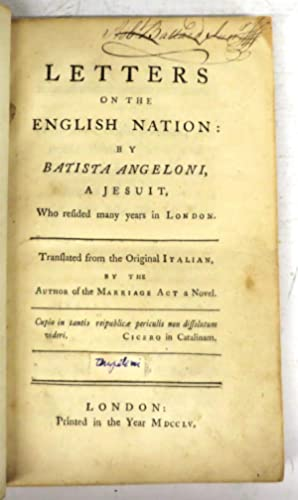 Letters on the English Nation: ANGELONI, Batista (SHEBBEARE,