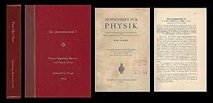 """Zur Quantenmechanik II"""" in Zeitschrift für Physik: Heisenberg, Werner; Max"""