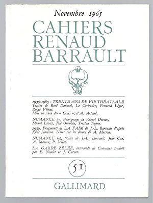 1935-1965. Trente ans de vie théâtrale. Numance.: Cahiers de la