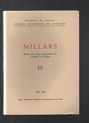 MILLARS. REVISTA DEL COLEGIO UNIVERSITARIO DE CASTELLÓN DE LA PLANA III.