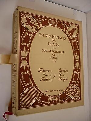 FALSOS POSTALES DE ESPAÑA. POSTAL FORGERIES OF SPAIN.: GRAUS FONTOVA, FRANCISCO ; SORO ...