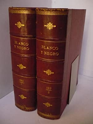 REVISTA BLANCO Y NEGRO. AÑO 1898 COMPLETO. NUMEROS DEL 348 AL 399.